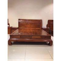 新中式红木家具刺猬紫檀实木床1.8米双人床主卧大床