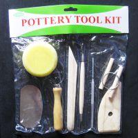 厂家直销儿童成年45#钢勇试牌螺丝固定式陶艺泥工工具8件套