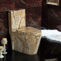酒店卫生间现代连体彩金马桶陶瓷座便器彩色