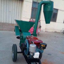 530型玉米秸秆地瓜秧粉碎机 锤片式畜牧养殖饲料破碎机 柴油机带粉碎机
