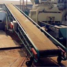 邯郸市水泥上车用皮带机 轻微V型不掉包皮带输送机 兴运供