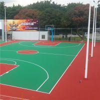陆丰翻新丙烯酸篮球场 球场涂料加厚定制 柏克施工学校运动场工程