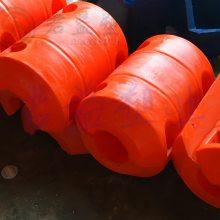 定制pe塑料浮筒 直径500高度750圆柱形浮体 管道浮标