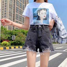 春夏款韩国东大门***洋气款牛仔短裤热裤潮牌女装牛仔裤
