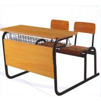 港文GW-06款学生双人厂家批发课桌椅金属家具产品