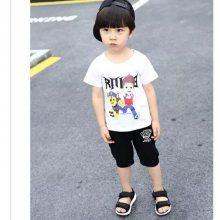 女童夏款小童套装,儿童卡通套装,儿童套装批发 童套装T恤+短裤
