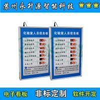 苏州永升源厂家定制电子看板 化验室人员信息安全天数***显示屏 安全牌