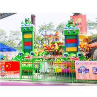 广东供应中山泰乐游乐制造 中小型室内外游乐设备升降塔迷儿童跳楼机5座趣味青蛙跳(LT-PR14)