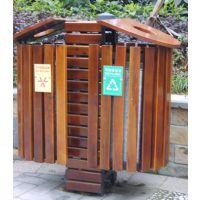 供应广州品木售楼部小区钢木垃圾桶