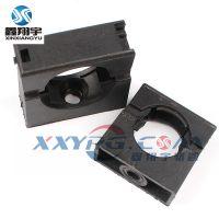 鑫翔宇/穿线塑料波纹管带盖固定卡座/穿线软管卡子