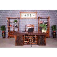 广东实木家具 古船木办公桌 大班桌 会议桌 电脑桌 老板桌椅组合