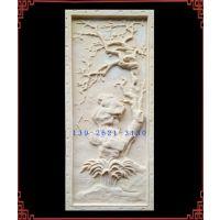 砂岩山水画浮雕 艺术梅兰竹菊壁画雕塑 人造石雕四君子壁饰