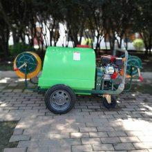 厂家直销高压汽油动力喷雾器 大功率拉管加长管打药车 四轮可移动动力大