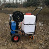 直销手推式喷雾器 农用60升推车式打药机 畜牧养殖消毒机