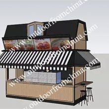 英式工业风 咖啡饮品冰激凌售卖亭 街区餐饮美食小吃汉堡售货亭