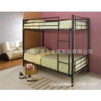 顺德简约学生双层铁床,学生宿舍床尺寸,成人GW-B117高低铁床厂家