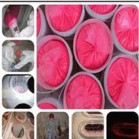 秀彩粉红荧光粉颜色检漏效果好山西布袋除漏专用高亮绿色荧光粉