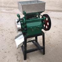 家用豆子机 对辊拉丝挤扁机 操作简单豆扁机