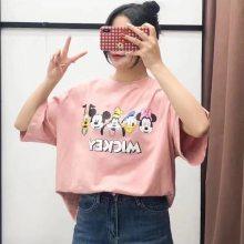 T恤棉圆领青春流行夏季短袖日常宽松青年韩版时尚休闲舒适简约潮流显瘦