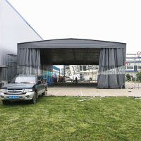 苏州平江区大型室外仓库帐篷定做_布电动伸缩遮阳棚效果图