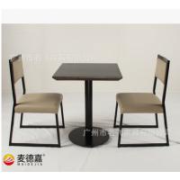 广西欧式茶餐厅桌椅组合实木餐桌椅咖啡店快餐桌椅实木椅子定制