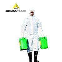 代尔塔406215连体防护服 限次型无纺布防化服 透气防尘服