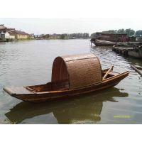殿宝传统手工艺木船制作 浙江绍兴仿古乌篷船 水上电动景观木船