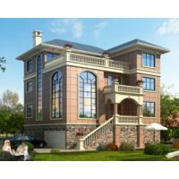 江西别墅设计AT1625三层带架空层别墅全套建筑施工图纸12.6mx12.2m