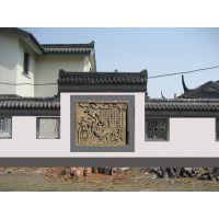 砖雕照壁 砖雕影壁 别墅人物泥塑