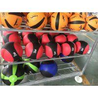 厂家供应橡胶药球腰腹部康复训练橡胶实心球稳健身球重力球