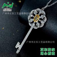 广州纯银饰品加工厂 正东珠宝 意大利珠宝品牌代加工 微镶925纯银镀白金戒指