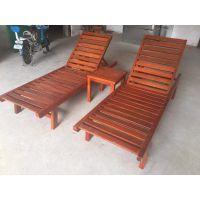 供应品旺实木沙滩躺椅TY-014