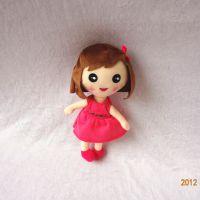 可爱儿童毛绒玩具20CM小女孩定制公司年会活动礼品 穿衣小女孩毛绒公仔