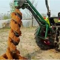 专业生产车载式挖坑机_拖拉机带的钻眼机鲁丰