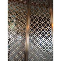 古典中式不锈钢雕花玫瑰金花格 钛金不锈钢玄关