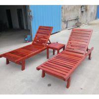 厂家直供品木实木沙滩躺椅pm-011