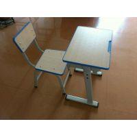厂家自产自销金属学生单人桌椅|可升降课桌椅中学生|辅导班用课桌椅注塑封边板