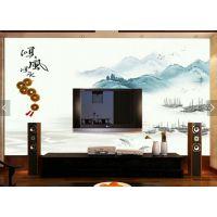 瓷韵山水画装饰画中式背景墙