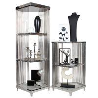 服装展示架厂家 领秀铁艺不锈钢珠宝展示架 橱窗镀金精品展示中岛架