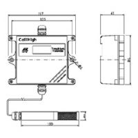 昆仑海岸JWSK-6ACC01+VS-6室外型温湿度变送器套装抗风挡雨无锡昆仑海岸