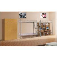 供应学生公寓组合铁床 商务休闲铁床厂家定做公寓单人单层铺宿舍铁架床定制