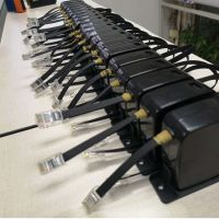 可伸缩充电线usb线带手机架创新面条线