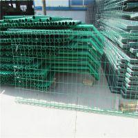 浸塑护栏网 框架护栏网现货 公园景观桃型柱护栏网厂家定制