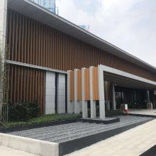 供应住宅小区广场雨棚装饰氟碳造型铝板