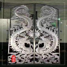 高端定制铝艺雕刻屏风 精美大堂 豪华办公室 镂空半浮雕屏风隔断
