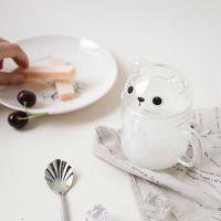 韩国家具批发 两只小熊小号早餐杯 麦和新款早餐杯 卡通可爱杯子