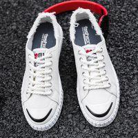 夏季新款透气小白鞋男士帆布鞋男鞋韩版运动学生休闲板鞋批发6673
