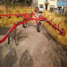 指盘式搂草机 圆盘搂牧草麦秸玉米秸秆机 牵引式搂草机