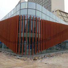 木纹铝方通吊顶装饰铝天花&U型木纹铝格栅吊顶厂家定做