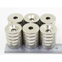 圆形沉头孔强力钕铁硼磁铁 圆环工业磁铁片